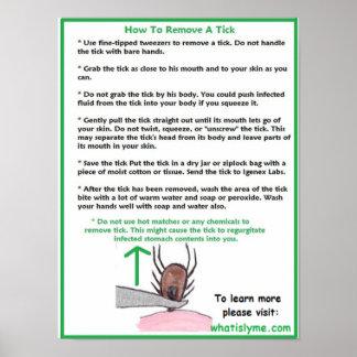Como remover um poster educacional do tiquetaque