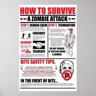 Como sobreviver a um ataque do zombi pôster