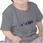 Como um polegar do chefe camisetas