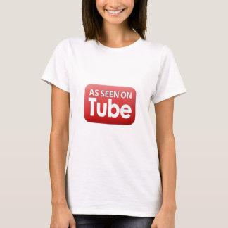 Como visto no tubo camiseta