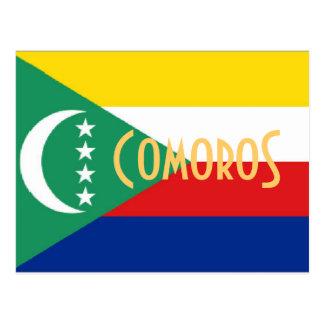 Cômoros o cartão das ilhas comorenses
