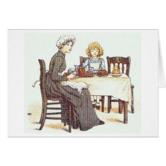 Compartilhando de uma refeição, cartão
