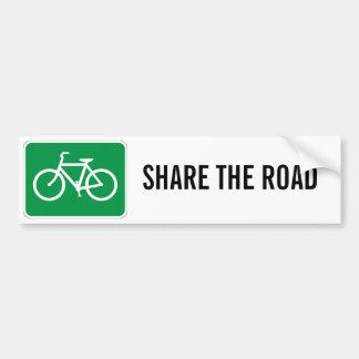 Compartilhe da estrada com as bicicletas adesivo para carro