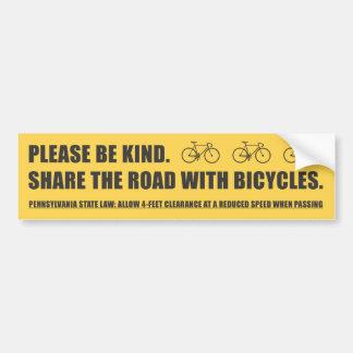 Compartilhe da etiqueta da segurança da bicicleta  adesivo para carro