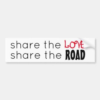 Compartilhe do amor/parte a estrada adesivo para carro