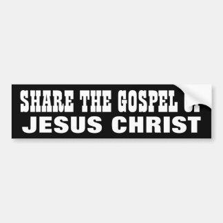 Compartilhe do evangelho adesivo para carro