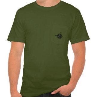 Compasso do bolso tshirts