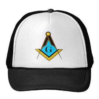 Compasso do quadrado do símbolo do Freemason da Boné