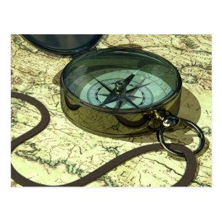 Compasso e cartão do mapa