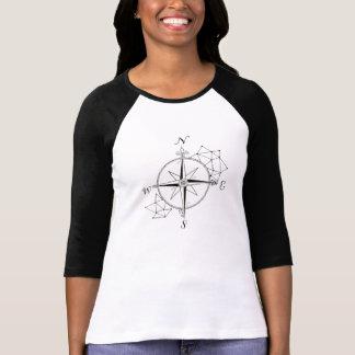 Compasso ilustrado mão tshirt
