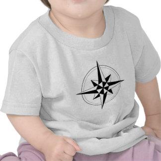 Compasso náutico preto t-shirt