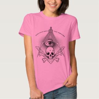 compasso & quadrado para o pedreiro mestre moderno camiseta