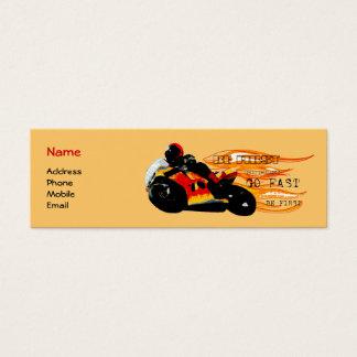 Competência da motocicleta cartão de visitas mini