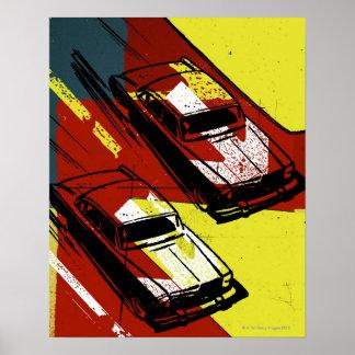 Competência de carros posters