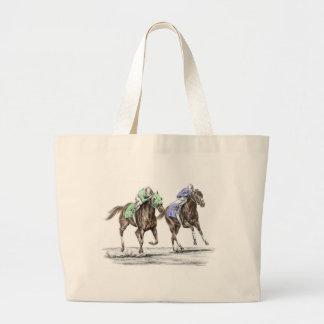 Competência de cavalos do puro-sangue sacola tote jumbo