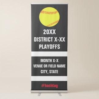 Competiam ou jogo das eliminatórias do softball do banner retrátil