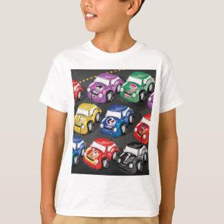 Competição automóvel dos carros de competência camiseta