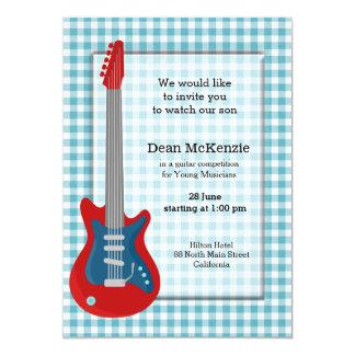 Competição da guitarra convite 12.7 x 17.78cm