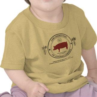 Competição de travamento do porco do condado de camisetas