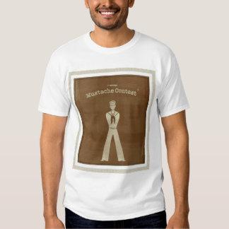 Competição do bigode t-shirt