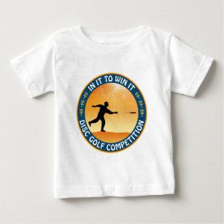 Competição do golfe do disco camiseta para bebê