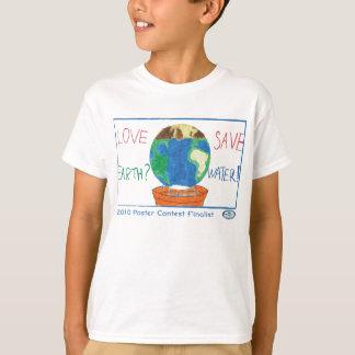 Competição do poster da consciência da água camiseta