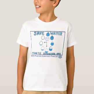 Competição do poster da consciência de 2014 águas camiseta