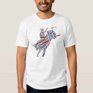Competição do rodeio t-shirts