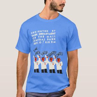Competição engraçada da canção do quarteto da camiseta