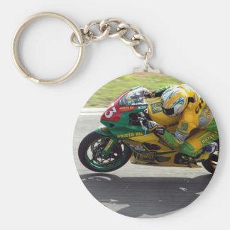 Competindo o chaveiro da motocicleta