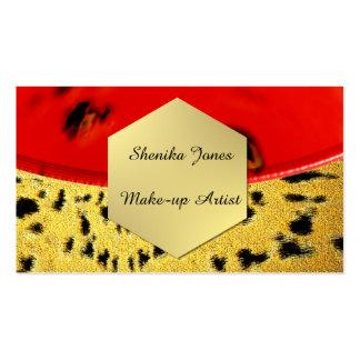 Compo cartões de visitas do cabeleireiro da beleza cartão de visita