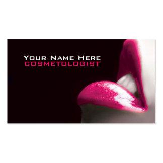 Compo cartões de visitas dos cosméticos