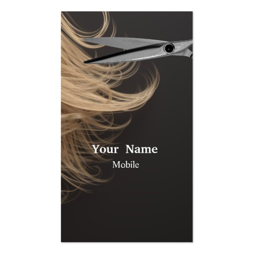 Compo o artista - cabeleireiro cartoes de visita