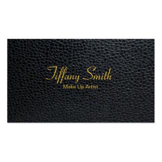 Compo o artista/couro cartão de visita