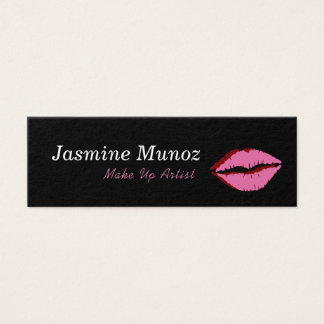 Compo o beijo do batom do artista cartão de visitas mini