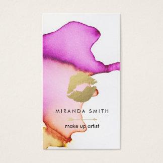 Compo o cartão de visita do artista - aguarela
