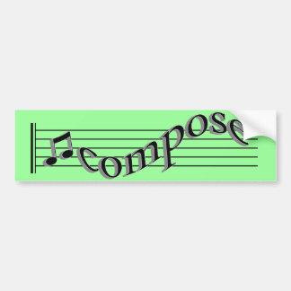 Compor a música adesivo para carro