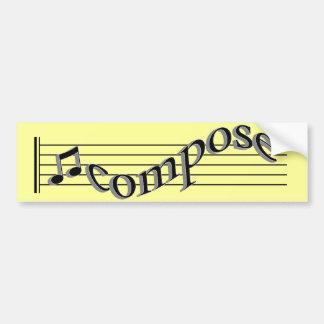 Compor a música adesivo