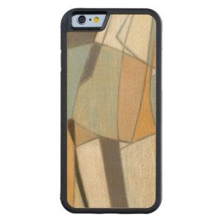 Composição abstrata com cores silenciado capa de carvalho bumper para iPhone 6