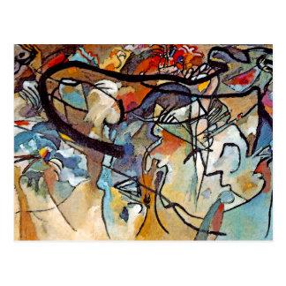 Composição cinco de Wassily Kandinsky Cartão Postal