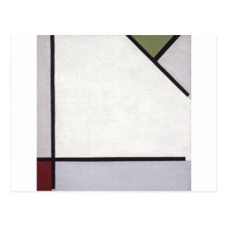 Composição contrária simultânea Theo van Doesburg Cartão Postal
