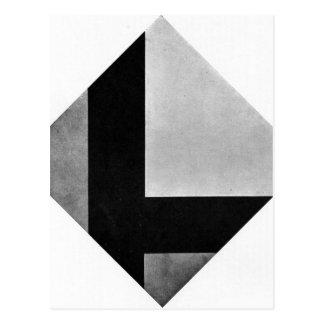 Composição contrária VIII por Theo van Doesburg Cartão Postal
