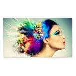 Composição e design do cabelo cartão de visita