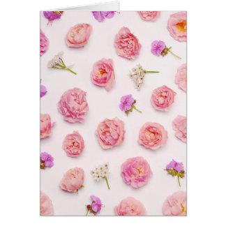 Composição floral bonita cartão comemorativo