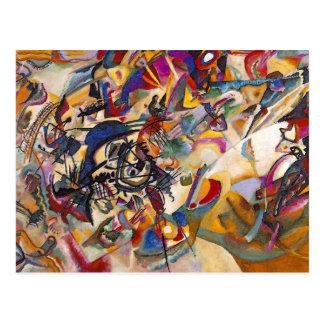 Composição sete de Wassily Kandinsky Cartão Postal