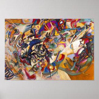 Composição sete de Wassily Kandinsky Posteres