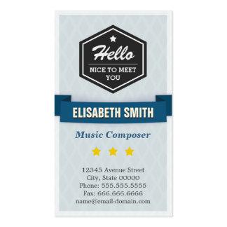 Compositor da música - na moda retro criativo cartão de visita