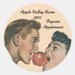 Compota de maçã de colocação em latas Home de Appl Adesivos