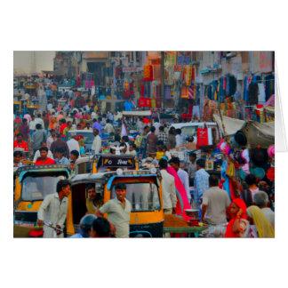 Compra de sábado, India Cartão Comemorativo