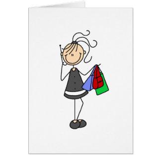 Compra e figura cartão da vara do telemóvel